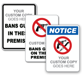 Custom No Guns Sign