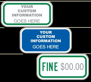 Custom Supplemental Fine Sign