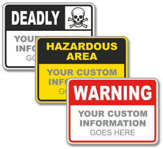 Custom Hazardous Material Sign