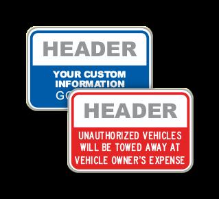Custom Unauthorized Vehicles Sign