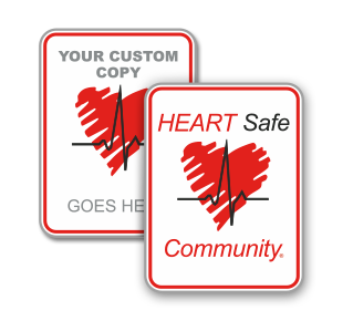 Custom Heart Safe AED Sign