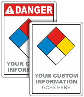 Custom NFPA Diamond Sign