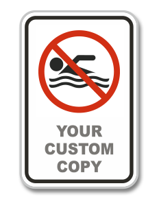 Custom No Swimming Sign