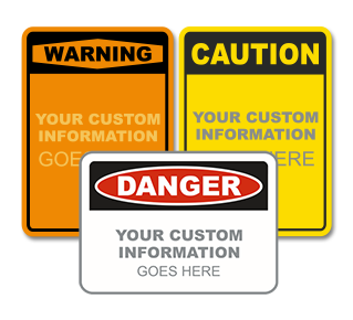 Custom OSHA Safety Headers with Text and Image