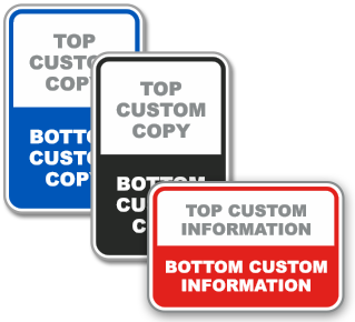 Custom Parking Signs Bi-Color with Text Only