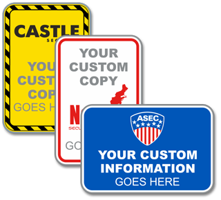 Custom Blank Traffic Sign