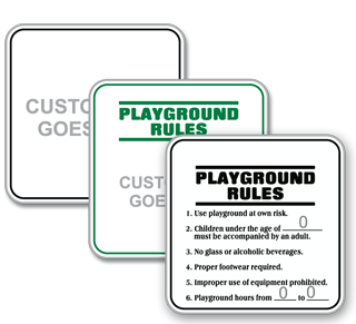 Custom Playground Rules Sign