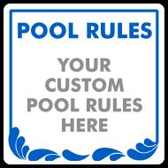 Custom Pool Rules & Hours Sign