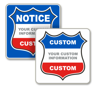 Custom Government Notice Sign