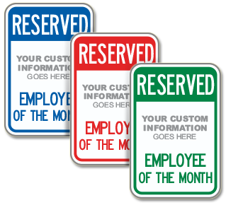 Custom Employee of The Month Sign