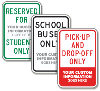Custom Reserved School Parking Sign