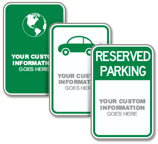 Custom Low Emission Vehicle Parking Sign