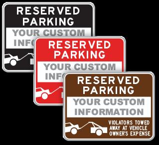 supplemental Custom Reserved Parking Sign