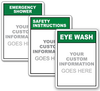 Custom Emergency Equipment Vertical Sign