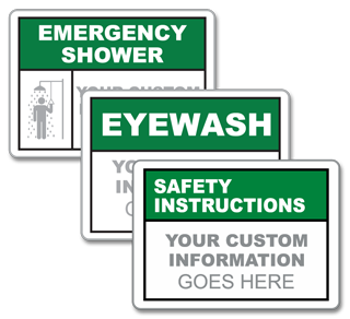 Custom Emergency Equipment Sign