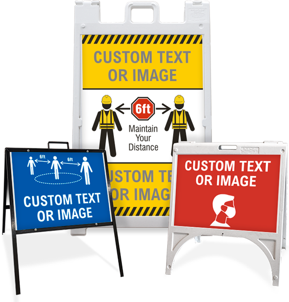 Custom Sandwich Board Signs / A-Frame Sidewalk Signs