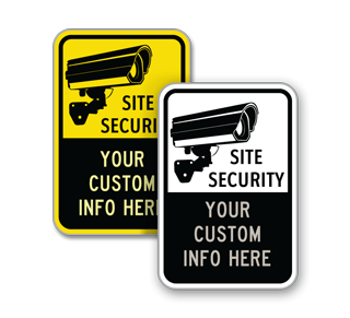 Custom Site Security Sign