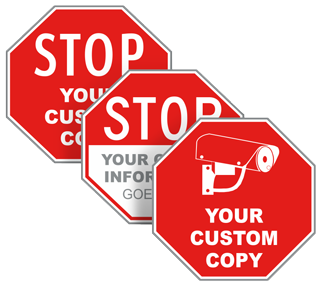 Custom Stop/Octagon Signs with Text or Image