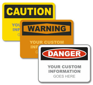 Custom OSHA Safety Headers with Text Only