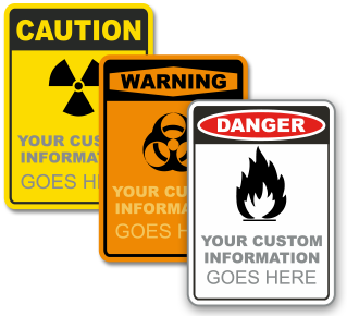 Custom OSHA Sign with Text and Image