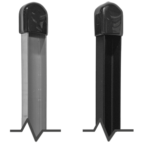 "36"" Long Silver or Black Aluminum Yard Sign Stakes"