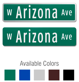 Official Street Sign with Optional Prefix and Suffix