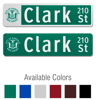 Flat Blade Sign with Image Upload and Street Number