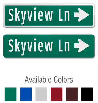 Street Sign with Directional Arrow