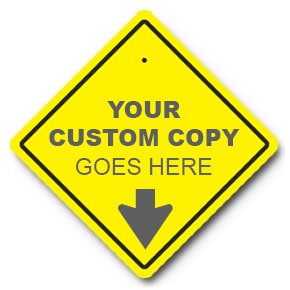 Custom Yellow Diamond Traffic Sign