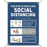 Gym Social Distancing Banner