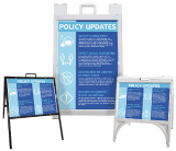 Policy Updates Sign