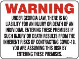 Warning Georgia Covid-19 Law