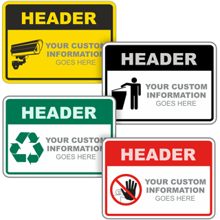 CUSTOM TEXT SIGN YELLOW BACKGROUND // BLACK TEXT 300 X 225MM METAL SIGN