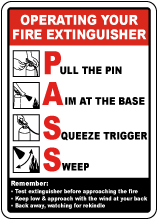 Operating Your Fire Extinguisher Sign