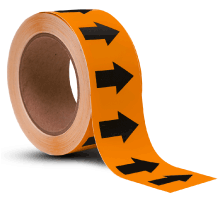 Orange / Black Arrow Banding Tape