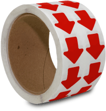 Red Arrow Floor Marking Tape