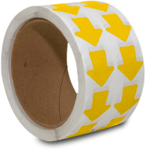 Yellow Arrow Floor Marking Tape