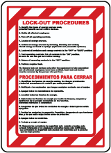 Bilingual Lockout Procedures Sign