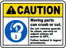 Follow Lockout Tagout Procedures Sign
