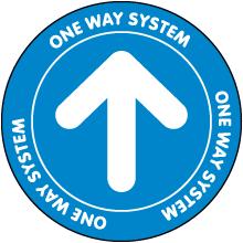 This Way Directional Down Arrow Floor Sign