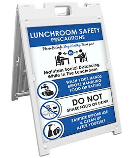 Lunchroom Safety Precautions Sandwich Board Sign