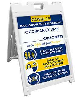 COVID-19 Max. Occupancy Limit Sandwich Board Sign