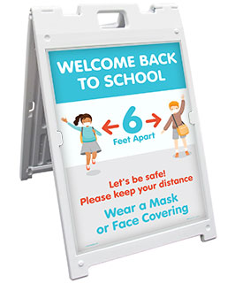 Welcome Back to School Wear a Mask Sandwich Board Sign