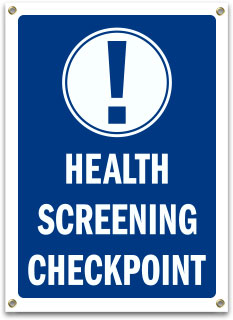 Health Screening Checkpoint Banner