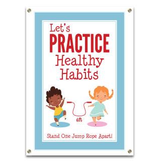 Let'S Practice Healthy Habits Banner