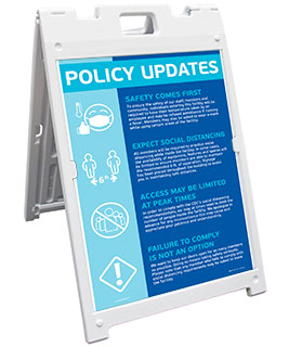 Policy Updates Sandwich Board Sign