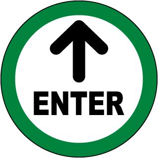 Enter Floor Sign