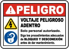 Spanish Follow Lockout Tagout Procedures Sign
