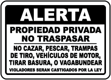 Spanish Posted Private Property Sign