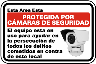 Spanish 24 Hour Video Surveillance Sign